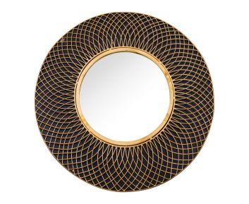 Decorative Wire Wall Mirror in Black