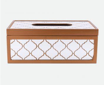 Designer Dark Gold Tissue Box for House Decoration