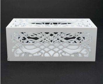 Designer White Tissue Box for House Decoration