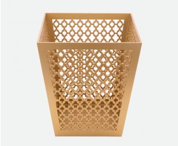 Designer Gold Waste Bin for Home Decor