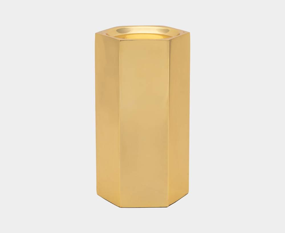 Gold Candle Holder for Home and Modern Decor
