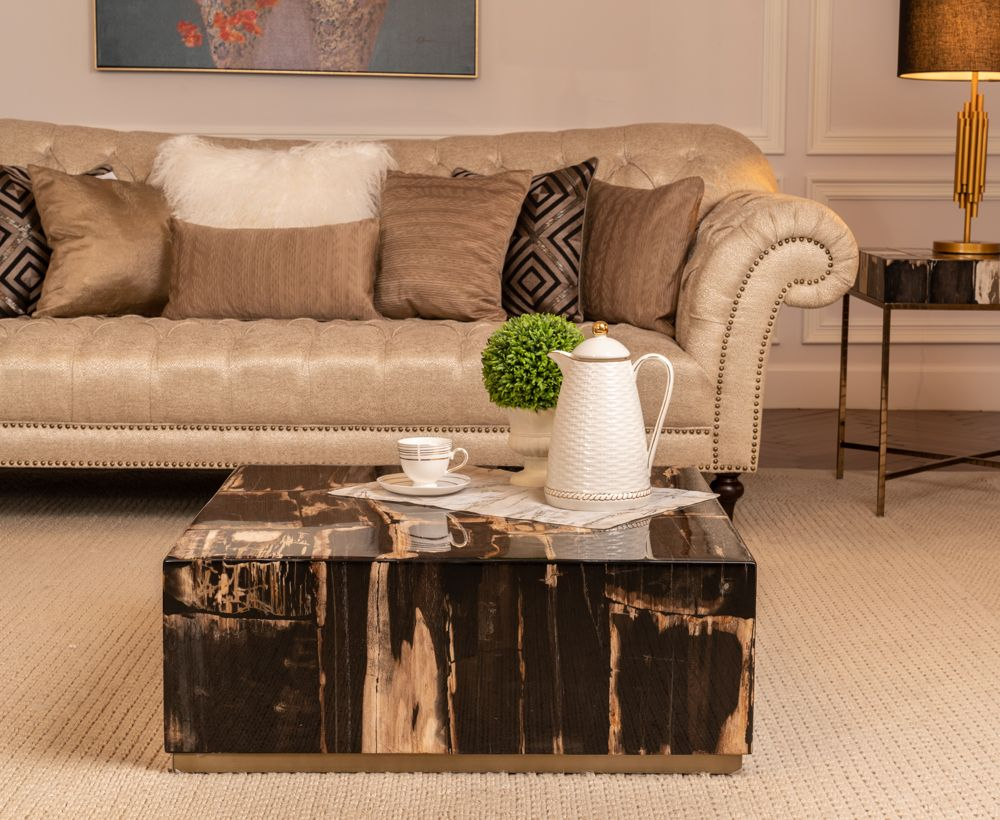 Coffee Table In Natural Dark To Complete Home Furniture