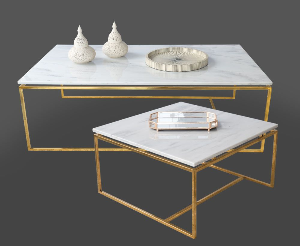 Alix Set Of 2 White Coffee Table For House Decoration