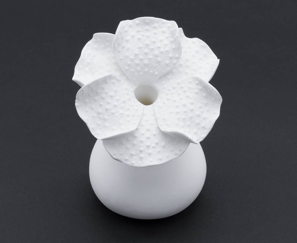 Decorative white flower bud vase living accessories decor living decorative white flower bud vase previous next mightylinksfo