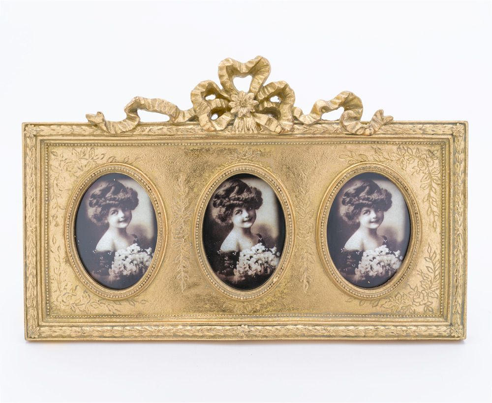 Handcrafted Photo Frame in Golden Colour - Photo frames ...