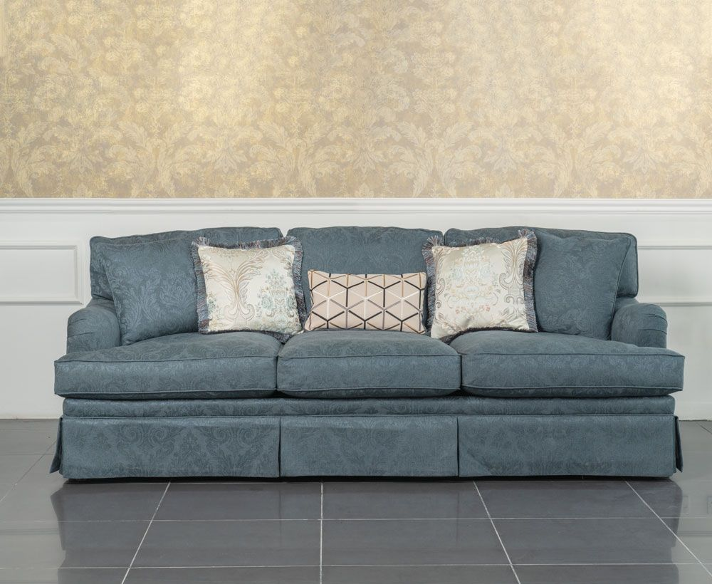 Oldenburg 3 Seater Sofa In Blue To Enhance Home Decor