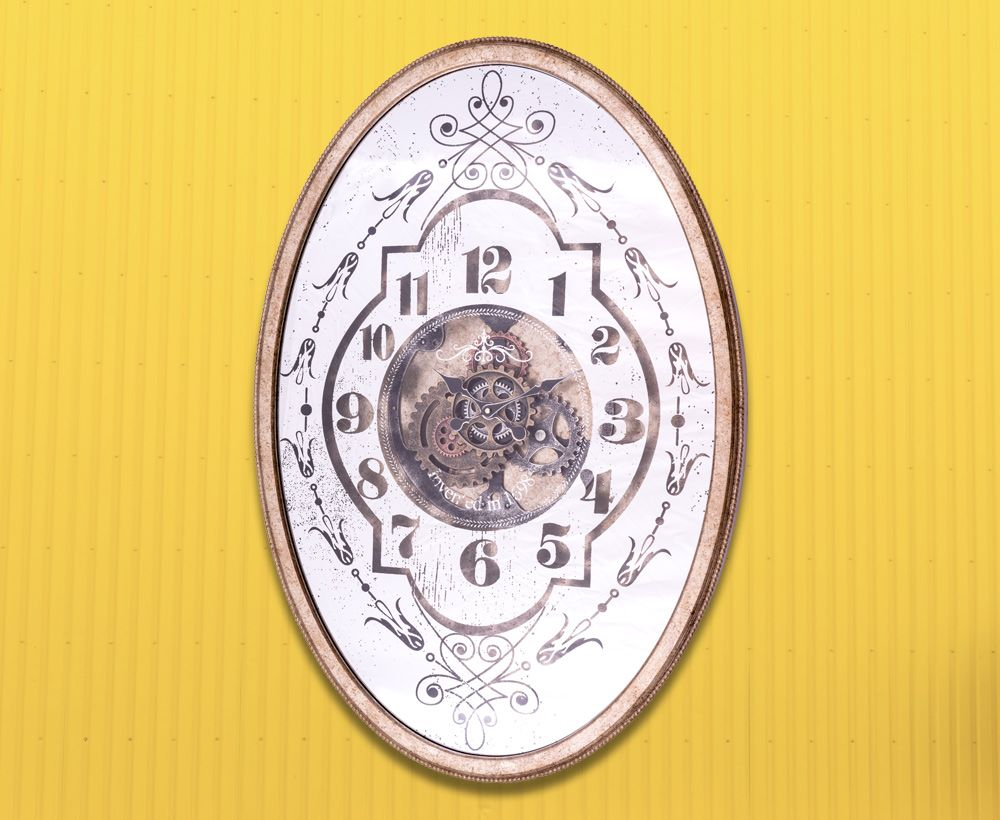 Antique Silver Wall Clock Ideal for House Decoration