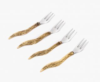 Agatha Baby fork gold set of 4