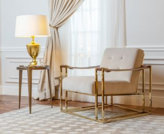 Avena Casual Chair in Beige for House Decoration