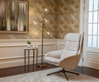 Gia Accent Chair in Beige for House Decoration