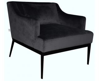 Karl Chair in Black for House Decoration 74 x 80 x 72 cm