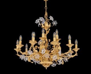 Gold-Coloured Chandelier to Enhance Home Decor