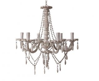 Chandelier in Antique White For Home Decoration 58x46.5cm