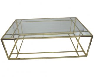 Gold Coffee Table to Complete Home Furniture 140 x 80 x 45 cm