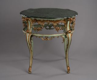 Green and Gold Console for Modern Decor