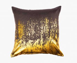 Aesthetic Charcoal Gold Cushion Cover 50x50 cm