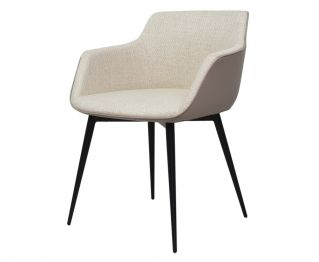 Lorde Dining Chair in White Grey for House Decoration 60 x 54 x 74 cm
