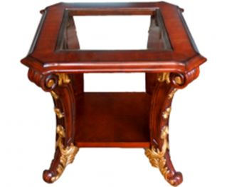Elegant brown end table for home beautiness