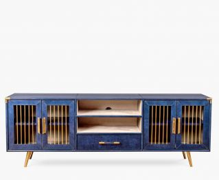 Jules Leather TV Unit for House Decoration