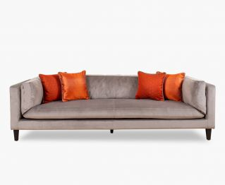 Lennox 3-Seater Sofa in Beige for House Decoration 260 x 97 x 74 cm