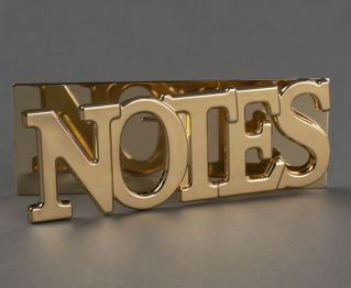Notes Gold Metal Clip for House Decoration