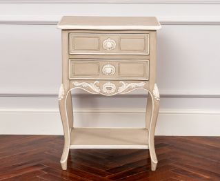 Clemence Two-Drawer Nightstand for House Decoration
