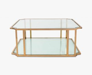 Ozan Coffee Table in Gold to Complete Home Furniture