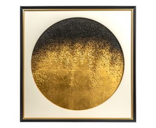 Attractive White/Gold Colored Painting for Home Decoration 75x5x75cm