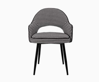 Black & White Rea Dining Chair
