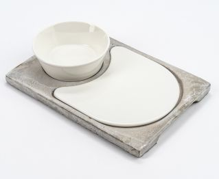 Set of 3 White Retainer Cup 26x18x5.5cm