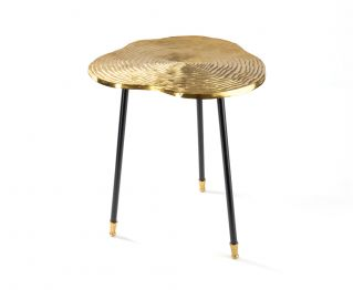 Wade Side Table in Gold to Complete Home Furniture