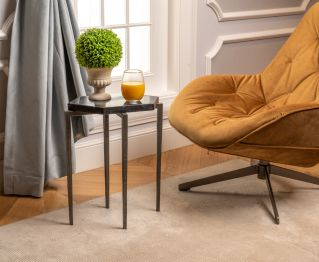 Everett Side Table in Grey for House Decoration
