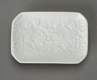 Lorine Matt White Soap Dish for Bathroom Tray
