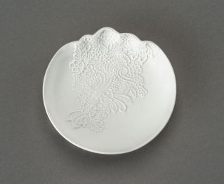 Frances Matt White Soap Dish for Bathroom Tray