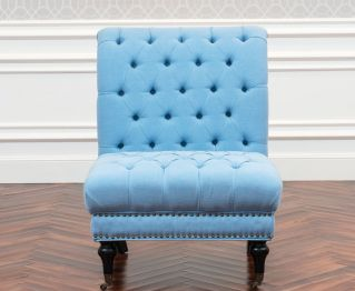 Sandberg One-Seater sofa in Blue for House Decoration