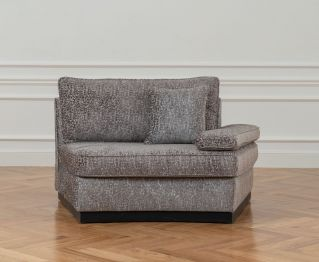 Emery Grey One-Seater sofa for House Decoration