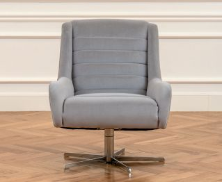 Hallie Swivel Grey Chair for Ideal House Decoration