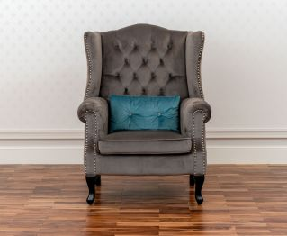 Hazel One-Seater sofa in Grey for House Decoration