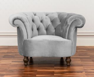 Vintage One-Seater sofa in Grey for House Decoration