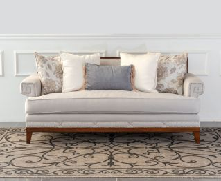 Maynard Light Brown Two-Seater sofa for House Decoration