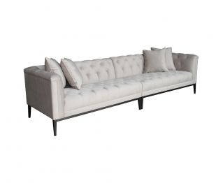 Cudham 4-Seater Sofa in Light Grey to Complete Home Furniture