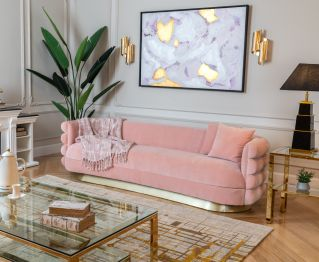 Hugo 3-Seater Sofa in Pink to Enhance Home Decor