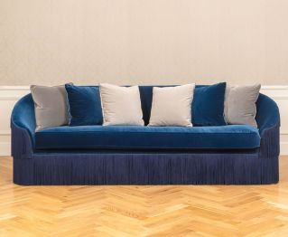 Harlow 4-Seater Sofa in Blue to Enhance Home Decor