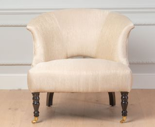 Lou One-Seater sofa in White for House Decoration