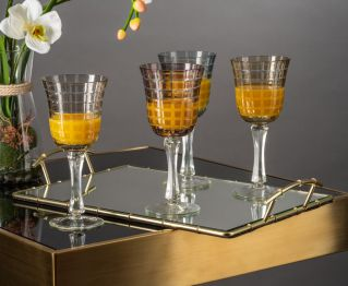 Set of 4 Stemware Glasses in Multi-Colour for Ideal Table Setting