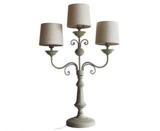 Beautiful Antique Grey Table Lamp for House Decoration H 37.5 cm
