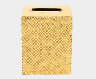 Elegant Tissue Cover in Gold for House Decoration