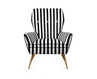 Tommy Accent Chair in Black and White for House Decoration