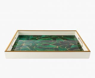 Enticing Tray in Multi-Color for House Decoration 45 x 30 x 4.5 cm
