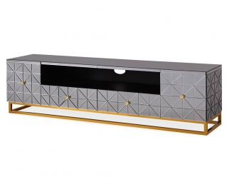 Avery TV Cabinet in Black and Gold 200x45x55cm